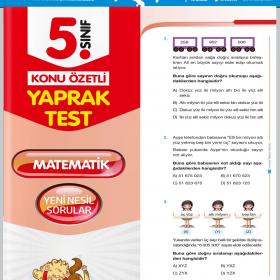 Evrensel Yay. 5. Sınıf Matematik Konu Özetli Yaprak Test