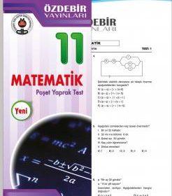 Özdebir Yay. 11. Sınıf POŞETLİ YAPRAK TEST MATEMATİK