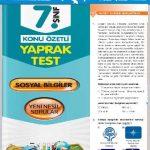 Evrensel Yay. 7. Sınıf Sosyal Bilgiler Konu Özetli Yaprak Test