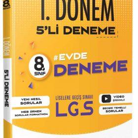 Evrensel Yayınları LGS 1.Dönem 5'li 8.Sınıf Deneme