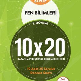 BLOKTEST 8.SINIF FEN BİLİMLERİ 10×20 KAP DENEME (1. DNM)